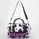 kitson kitson KHB0613 COW/WH/PK mini-duffel Boston bag