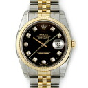 116233G ROLEX Datejust black mens