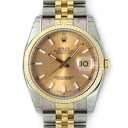 116233 ROLEX Rolex date just champagne gold men