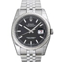 116234 ROLEX Rolex date just black men
