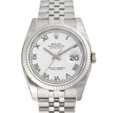 116234 ROLEX Rolex date just white men