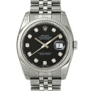 ROLEX Rolex date just 116234G black men