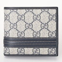 GUCCI Gucci 138073 KGD6N4075 GG Supreme two bi-fold wallet