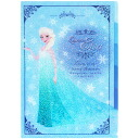 Year end and new year limited edition points five times UP Disney Ana and snow Queen clear file A4 5 pockets 5 p Elsa light blue ☆ Ana and the snow Queen stationery series ★