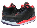 NIKE AIR JORDAN 3 RETRO Nike エアージョーダン 3 retro BLACK/BRIGHT CRIMSON/CNYN PURPLE