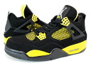 NIKE AIR JORDAN 4 RETRO Nike Air Jordan 4 retro BLACK/WHITE/TOUR YELLOW