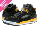 NIKE AIR JORDAN SPIZ ' IKE GS Nike Air Jordan スパイズイック GS BLACK/UNIVERSITY GOLD/DARK GREY