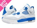 Nike NIKE AIR JORDAN4 RETRO GS エアージョーダン 4 retro GS WHITE/MILITARY BLUE