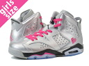 NIKE AIR JORDAN 6 RETRO GS Nike Air Jordan 6 retro GS METALLIC SILVER/PINK