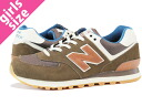 NEW BALANCE ML574CAB-new balance ML574CAB BROWN/BLUE