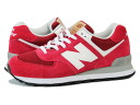 NEW BALANCE ML574UA-new balance ML574UA RED/WHITE