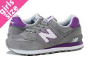 NEW BALANCE WL574CPG-new balance WL574CPG GREY/PURPLE fs3gm