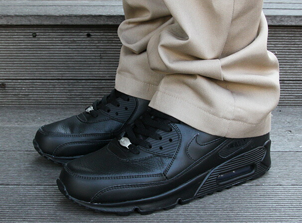 nike air max 90 all black leather