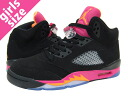 NIKE AIR JORDAN 5 RETRO GS Nike Air Jordan 5 retro GS BLACK/ORANGE/PINK
