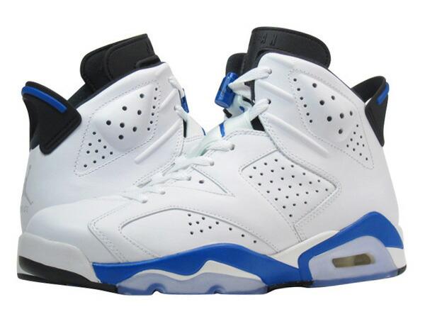 NIKE AIR JORDAN 6 RETRO Nike Air Jordan 6 retro WHITE/BLUE