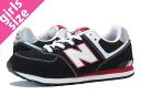 NEW BALANCE KL574KBG New Balance KL574KBG BLACK/WHITE/RED