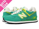 NEW BALANCE WL574RUG-new balance WL574RUG GREEN/WHITE/YELLOW