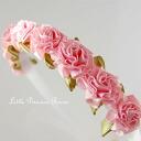 [リボンローズ headband Pink]