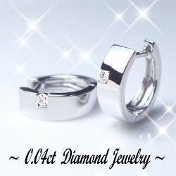 K18[ホワイト/ピンク/イエロー]ゴールド製 ダイヤモンド 中折れフープピアス