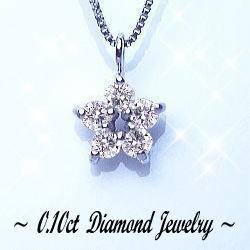 K18WG ダイヤモンド ペンダントネックレス
