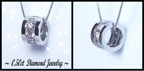 K18[ホワイト/ピンク/イエロー]ゴールド ダイヤモンド ペンダントネックレス