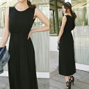 Maxi solid high waist リゾートワンピ Maxi-length dress long one piece レーディスファッション maternity one piece Maxi dress