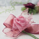 Handmade kit with the recipe to be able to make a rose with topping flower ribbon
