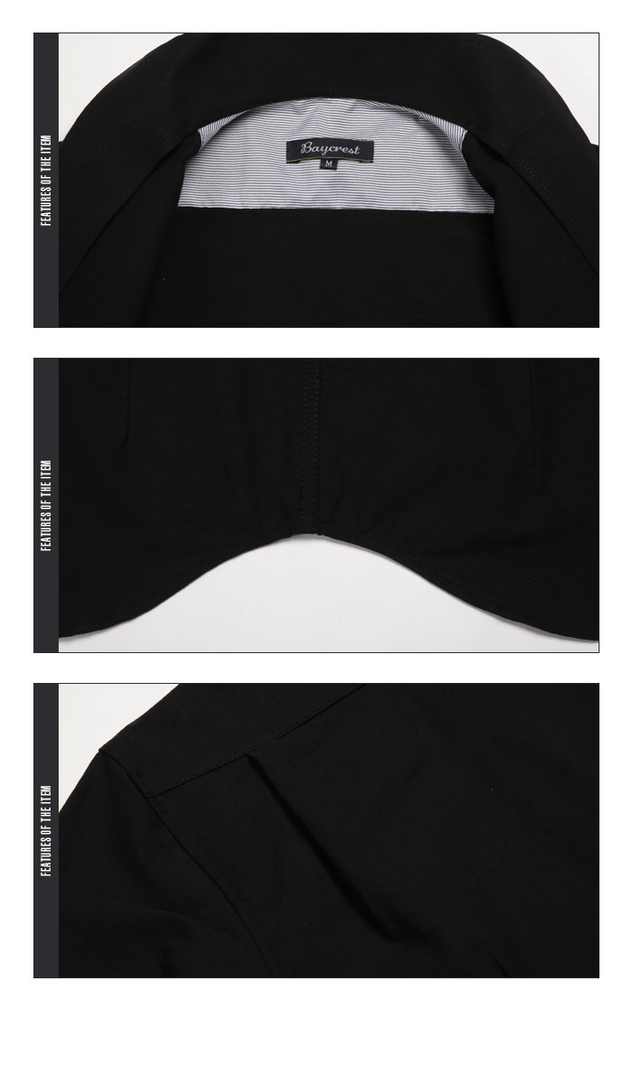 BITTER シャツ メンズ 白 ホワイト イタリアンカラー オックスフォード 長袖 綿 コットン トップス インナー カジュアル キレイめ お兄系 ビター系 ファッション 服 秋 11