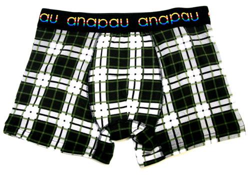 anapauアナパウ/チェック-BK(ブラック) ボクサーパンツ