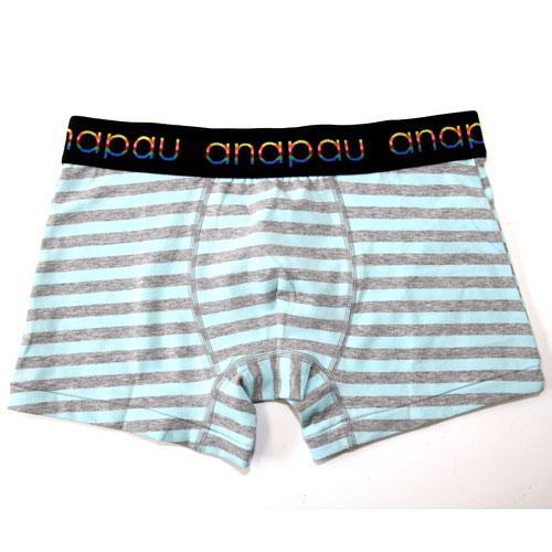anapauアナパウ/太ボーダー-sax(ブルー) ボクサーパンツ