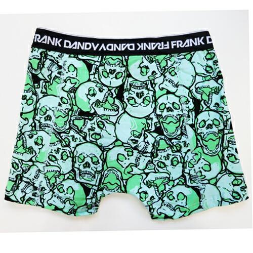 FRANK DANDY/Assorted Skulls Boxer (グリーン) フランクダンディー