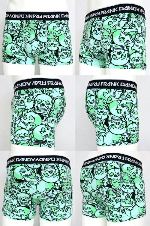 FRANK DANDY/Assorted Skulls Short Boxer (グリーン) フランクダンディー