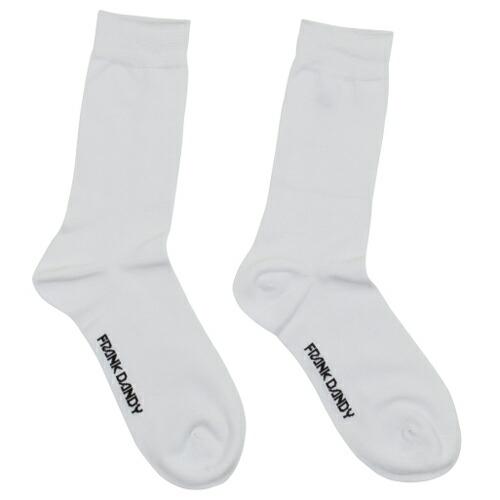 FRANK DANDY/Bamboo Socks Solid White(ホワイト) フランクダンディー