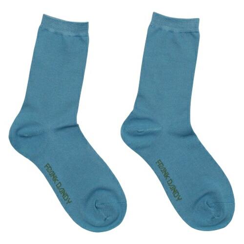 FRANK DANDY/Bamboo Socks Solid Blue(ブルー) フランクダンディー