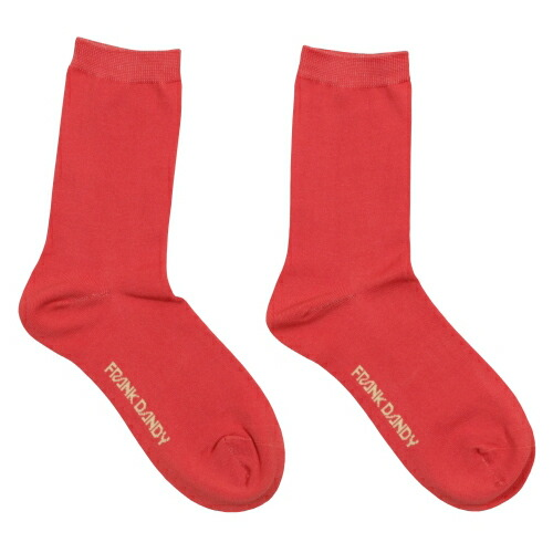 FRANK DANDY/Bamboo Socks Solid Red(レッド) フランクダンディー