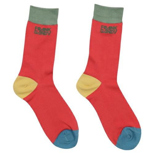 FRANK DANDY/Bamboo Socks Blocks Multi Red(マルチレッド) フランクダンディー