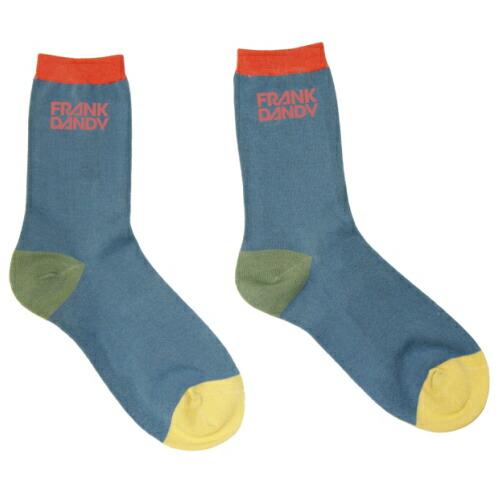 FRANK DANDY/Bamboo Socks Blocks Multi Blue(マルチブルー) フランクダンディー