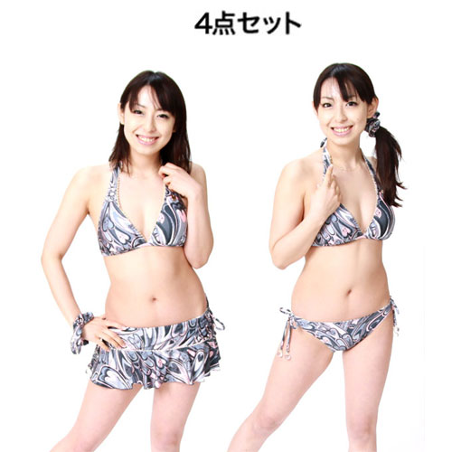 CRYSTAL BALL クリスタルボール/スカート付きビキニ4点セット【ビキニ】【水着】