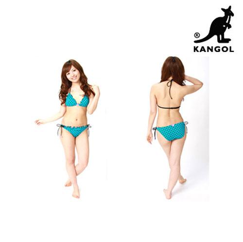 KANGOL カンゴールドロップビキニ/チューブトップ付きドロップ3ピースビキニ【ビキニ】【水着】