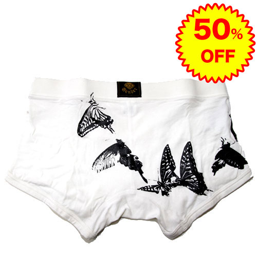 SALE 50%OFF半額以下】GENDER ジェンダー/Butterfly ボクサーパンツ(ホワイト)