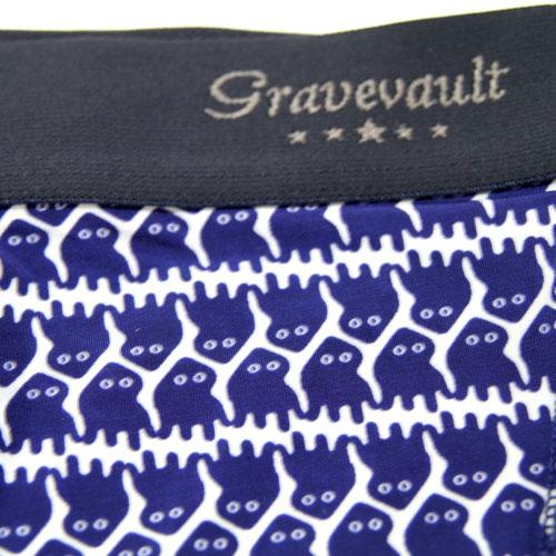 Gravevault/ヤブノケンセイAlienローライズ(ホワイト×ブルー)グレイブボールト