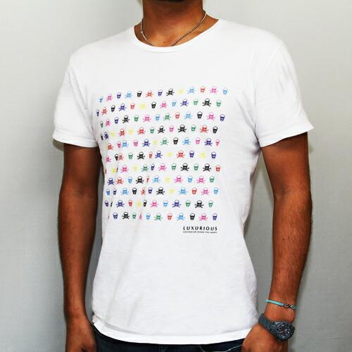 /スカルTシャツ(ホワイト)ボクサーパンツ