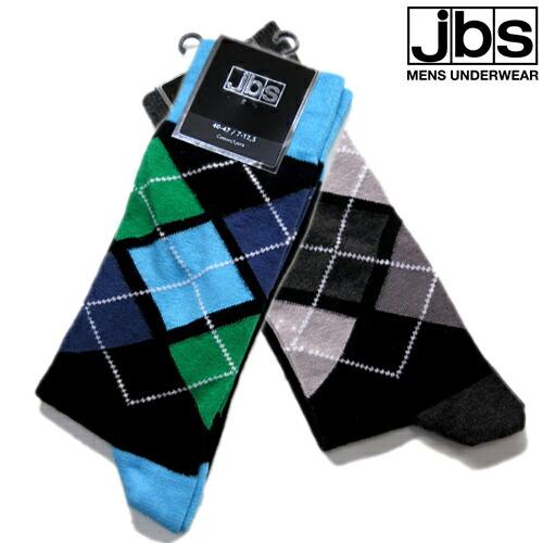 JBS/SOCKS アーガイル(グリーン×ブルー) ジェイビーエス