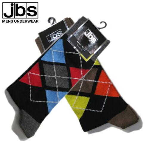 JBS/SOCKS アーガイル(ブルー×レッド) ジェイビーエス