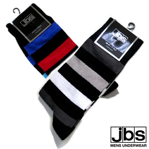 JBS/SOCKS マルチストライプ(グレー×ホワイト) ジェイビーエス