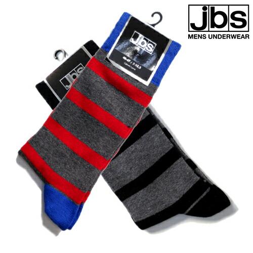 【10%OFF】JBS/SOCKS マルチストライプ(グレー×ブラック) ジェイビーエス