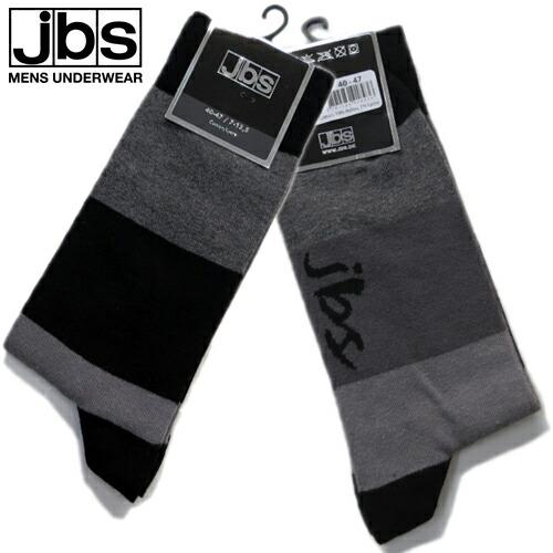 JBS/SOCKS ブロックストライプ(グレー×ブラック) ジェイビーエス
