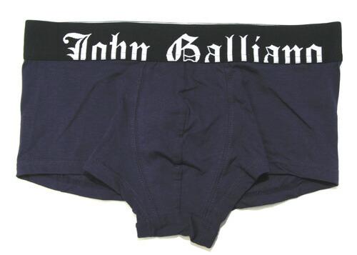 John Galliano ジョンガリアーノ/ウェストゴムロゴ ボクサーパンツ パープル
