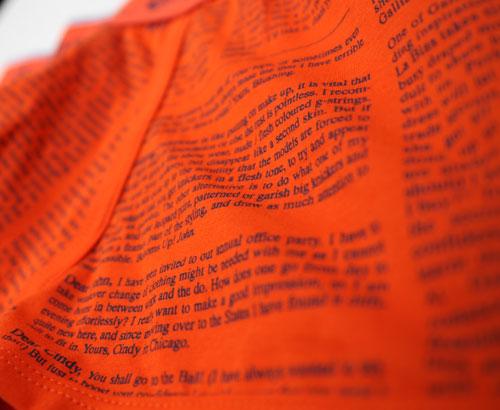John Galliano ジョンガリアーノ/【限定コレクションライン】NEWSPAPER ニュースペーパー(パッションオレンジ)ボクサーパンツ