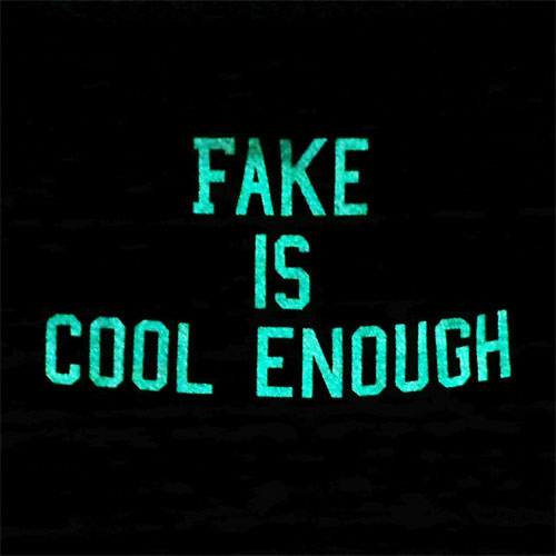 [10%OFF]LATESHOW レイトショー/FAKE IS COOL ENOUGH(ブラウン)